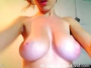 Sexy Blonde Shows her Perfect Tits Just For You