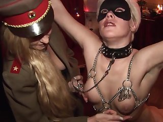 Granny being humiliated in BDSM scene