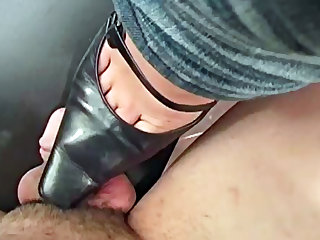 Dominant mature bitch fucks with her horny slave