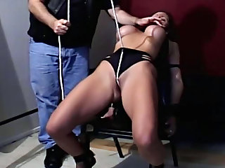Fake tits beauty tied up lustily