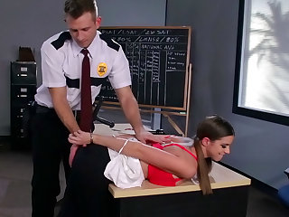 Sweet Brooklyn is getting fucked by an officer