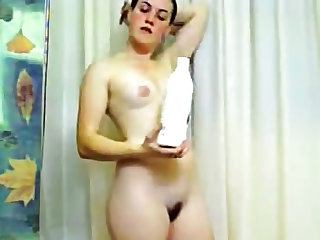 Fresh young cutie dances on webcam