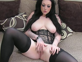 Nice beauty Harmony with exactly sensational tits is getting humped deep in this shaved pussy