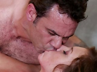 That delightful blooming Maddy OReilly is revealing these sweet jugs and bangs with tattooed Steven St Croix