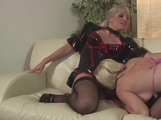 Worth to see this gentle Jezebel Melanie Moon is having awesome lesbian sex with Uma Masome