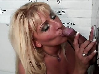 Cute bleached milf with nice face Love is getting cum on her boobies after a deep blowjob
