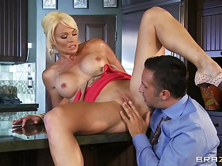 Hardcore sex with Keiran Lee and Rhylee Richards! Busty blonde with big tits craves to be impaled in her tight holes