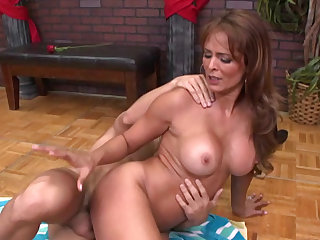 She is his dance instructor and will be his sexual partner in the great milf sex video.