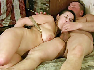 Tied and adorable slut with fat backdoor is here to have hardcore bang with her head master