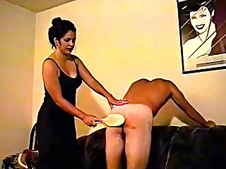 This guy has been very naughty and now he is going to be spanked by his sister in law. Watch and enjoy
