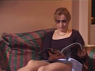 Hot French MILF gets ass fucked in the living room