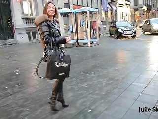 Moncler slut walking in town
