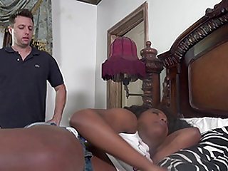 Vivacious ebony bomb Daya Knight having her cooch boned by Mark Zane