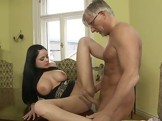 Hardcore Christoph Clark is drilling slender brunette Anastasia Brill and cumming in her mouth