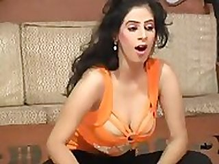 Mujra Dancer - Orange Top