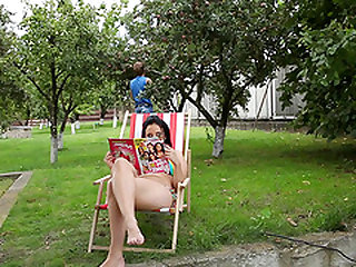 Awesome face sitting with a huge shameless slut Dominika outdoors