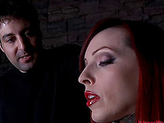Redhead Emily Marilyn having fun during hot bdsm action