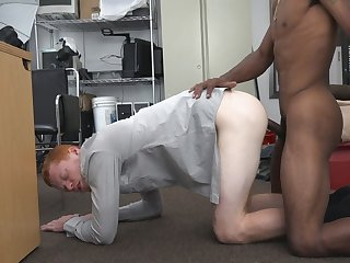 Pale Stud Takes Black Schlong In Doggy Style