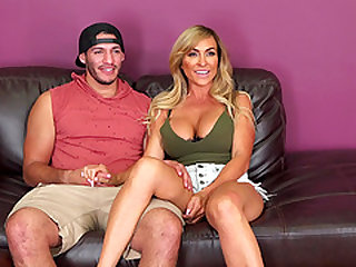 Busty Aubrey Black opens her legs for a stiff dick