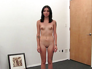 Skinny Erika with small tits smashed hardcore missionary