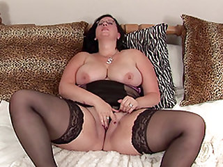 Chubby brunette Storm is ready to make her pussy wet