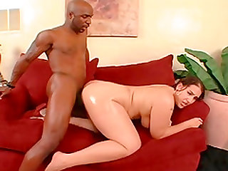 Plump darling Latina Luv knows how to handle a fat black penis