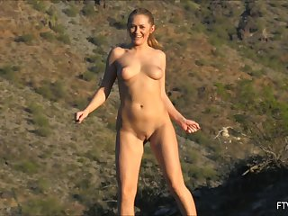 Sexy Kandace visits the wilderness only to get totally naked there!