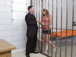 Lawyer and his jailed client fucking during a meeting