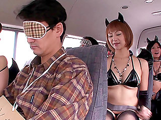 Kinky Japanese group of people and hot chicks having a great day