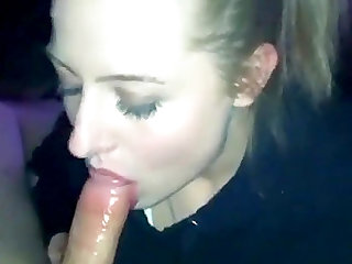blonde chick throats sloppy dick