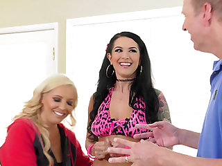Francesca Le and Katrina Jade are in need of a massive cock