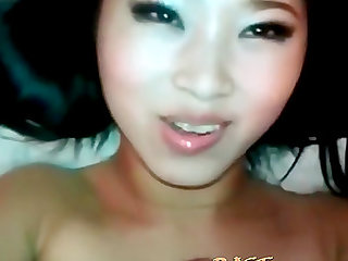 Cum loving asian bitch gets her mouth full of warm cum from hard cock