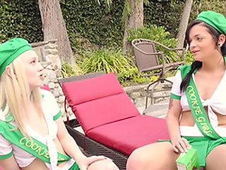 Kylie Foxx and Lily Rader are in need of a man's erected dong