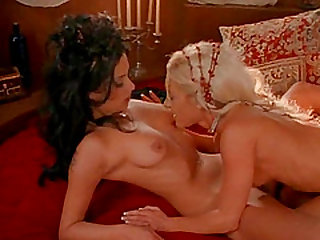 Lesbian Dayton Rain pussy licked then fingered lovely