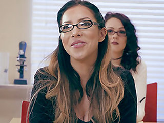 Karlee Grey seduces a horny teacher with her amazing tits