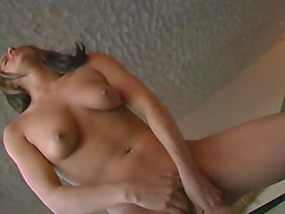 Close up anal toying action with dazzling amateur cowgirl