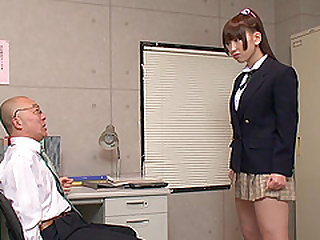 Ai Sayama seduced by a mature lover for a sex session
