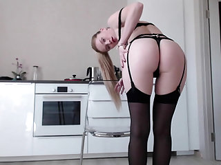 A Blonde Teen Toying Her Tight Asshole