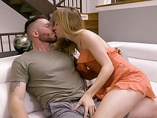 Putting his boner into Ivy Wolf's mouth and making her want more