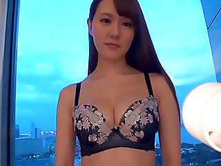 Amateur from Japan wearing sexy underwear and getting naked