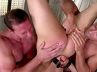 Arousing BDSM action with Tigerr Benson and her two gentlemen
