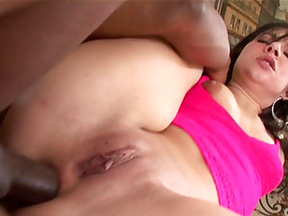 Interracial deep anal fucking with booty babe Ashli Orion craving for a good BBC