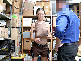 Scarlett Bloom rides a dick and tastes his cum in office