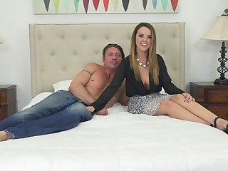 Vivacious performer Dillion Harper fucked in the bedroom