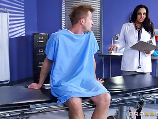 Sexy female doctor uses her pussy to make her patient feel better