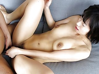 Japanese lady has a steamy fuck session with hairy guy