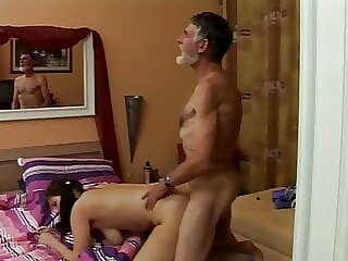 sex initiation of Pearl by best friend grandpa