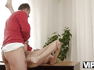 VIP4K.Girl needs help but sex with old man makes forget...