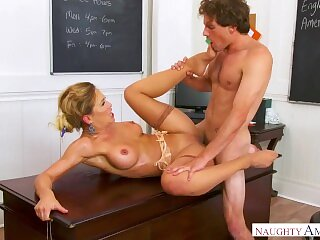 English Teacher Cherie Deville Fucks Her Student For Phys Ed