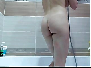 Shower with big tits ass pussy